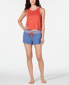 Jenni Tank Top & Pajama Shorts Knit Sleep Separates, Created for Macy;s