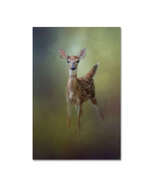 """Trademark Global Jai Johnson 'Fawn In The Forest' Canvas Art - 19"""" x 12"""" x 2"""""""