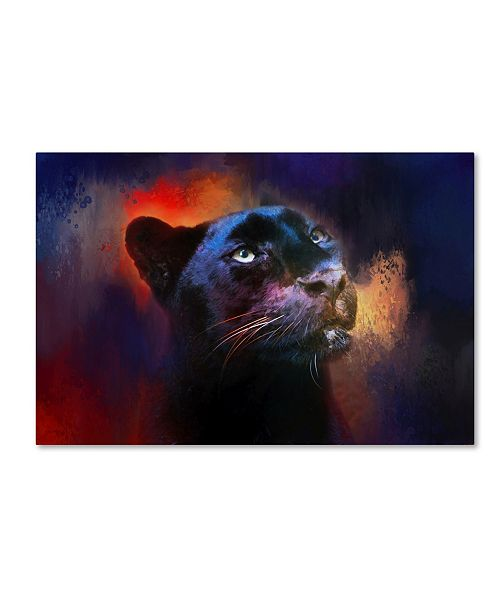 "Trademark Global Jai Johnson 'Colorful Expressions Black Leopard' Canvas Art - 32"" x 22"" x 2"""
