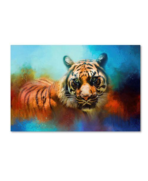 "Trademark Global Jai Johnson 'Colorful Expressions Tiger 2' Canvas Art - 32"" x 22"" x 2"""