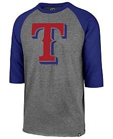 '47 Brand Men's Texas Rangers Throwback Club Raglan T-Shirt