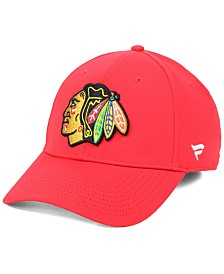 Authentic NHL Headwear Chicago Blackhawks Basic Flex Stretch Fitted Cap
