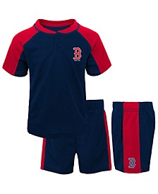 Toddlers Boston Red Sox Play Strong Short Set