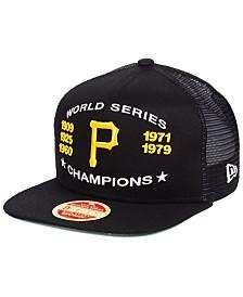 New Era Pittsburgh Pirates Team Front Trucker 9FIFTY Snapback Cap