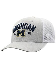 Michigan Wolverines Notch Heather Trucker Cap
