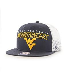Big Boys West Virginia Mountaineers Wordmark Captain Snapback Cap