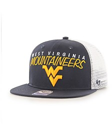 '47 Brand Big Boys West Virginia Mountaineers Wordmark Captain Snapback Cap