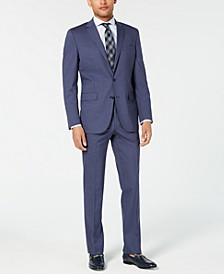 Men's Slim-Fit Travel Ready Performance Stripe Suit