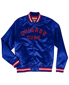 Mitchell & Ness Men's Big & Tall Chicago Cubs Lightweight Satin Jacket