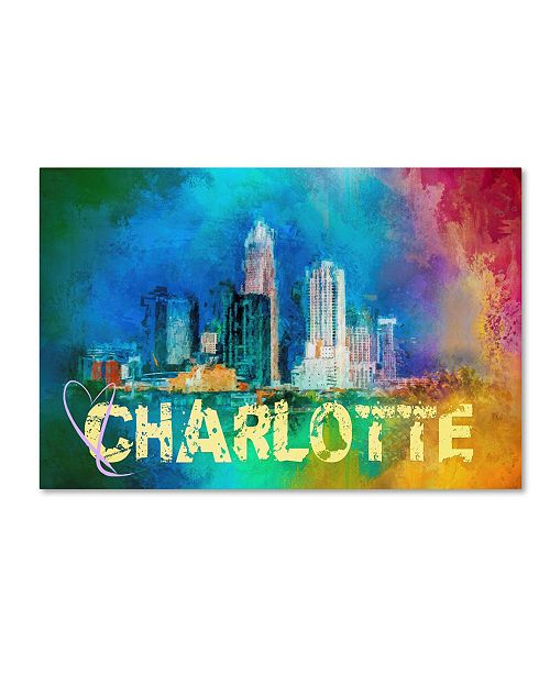 "Trademark Global Jai Johnson 'Sending Love To Charlotte' Canvas Art - 24"" x 16"" x 2"""