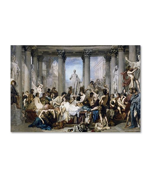 """Trademark Global Couture 'Romans During The Decadence' Canvas Art - 24"""" x 16"""" x 2"""""""