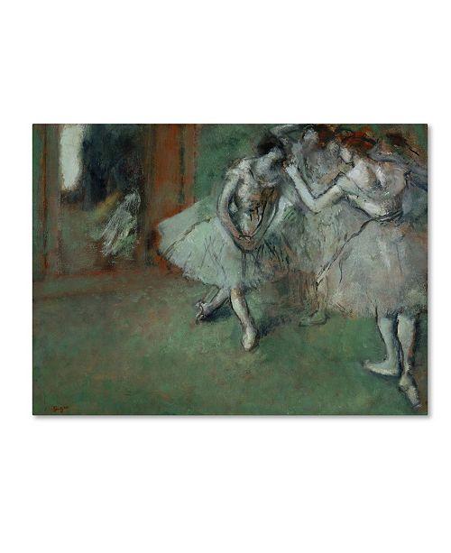 "Trademark Global Degas 'A Group Of Dancers' Canvas Art - 32"" x 24"" x 2"""