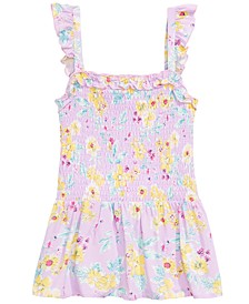 Big Girls Smocked Floral-Print Top, Created for Macy's
