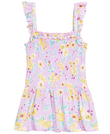 Epic Threads Big Girls Smocked Floral-Print Top, Created for Macy's
