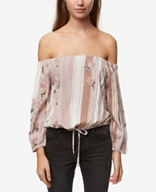 O'Neill Juniors' Printed Off-The-Shoulder Top