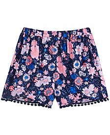 Epic Threads Big Girls Floral-Print Challis Shorts, Created for Macy's