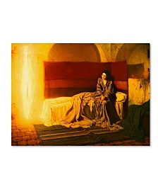 """Henry Ossawa Tanner 'The Annunciation' Canvas Art - 19"""" x 14"""" x 2"""""""