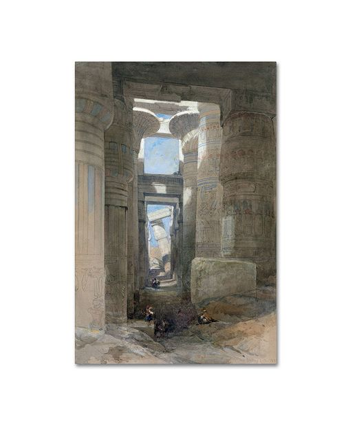 "Trademark Global David Roberts 'The Great Temple Of Amon Karnak' Canvas Art - 47"" x 30"" x 2"""