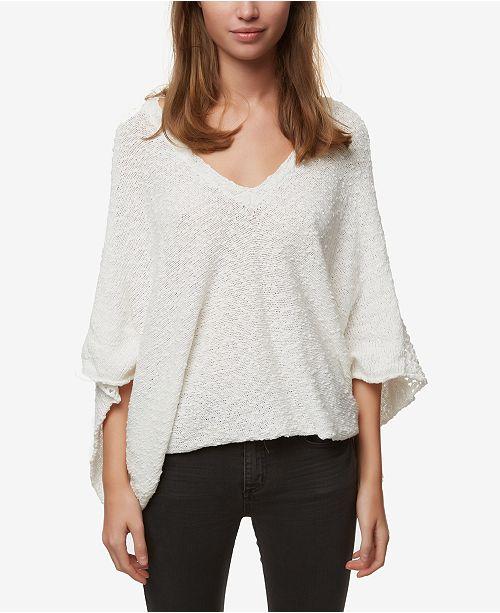 O'Neill Juniors' Cotton Poncho Sweater
