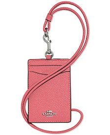 COACH ID Lanyard in Crossgrain Leather