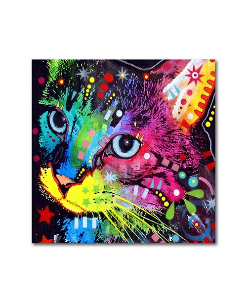 """Trademark Global Dean Russo 'Thinking Cat Crowned' Metal Art - 16"""" x 16"""" x 0.125"""""""
