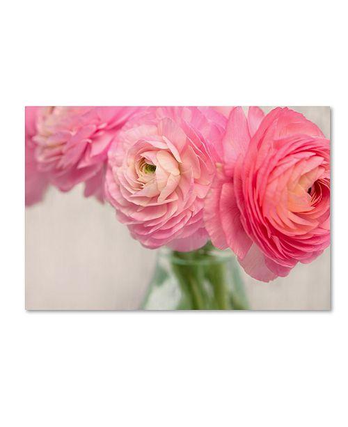 "Trademark Global Cora Niele 'Pink Buttercups In Glass Ii' Canvas Art - 32"" x 22"" x 2"""