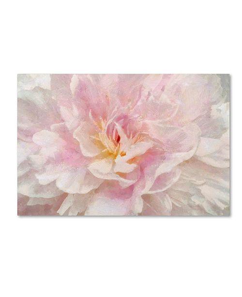 "Trademark Global Cora Niele 'Pink Peony' Canvas Art - 47"" x 30"" x 2"""