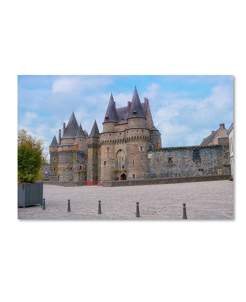 "Trademark Global Cora Niele 'The Castle Of Vitre' Canvas Art - 19"" x 12"" x 2"""