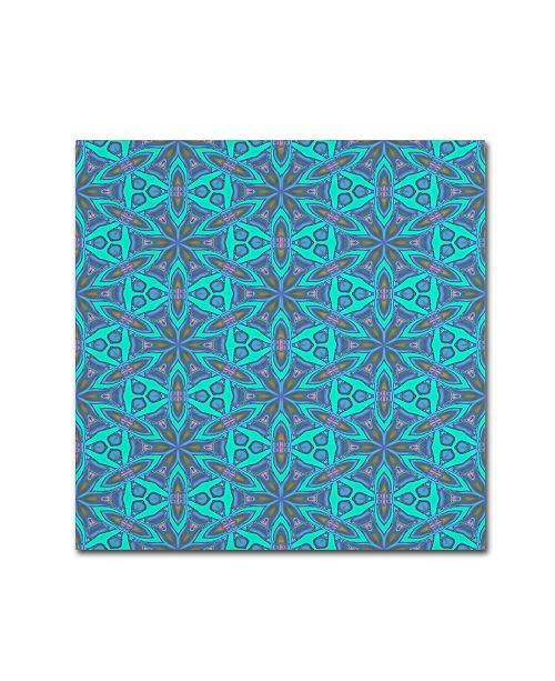 """Trademark Global Cora Niele 'Stained Glass Pattern' Canvas Art - 14"""" x 14"""" x 2"""""""