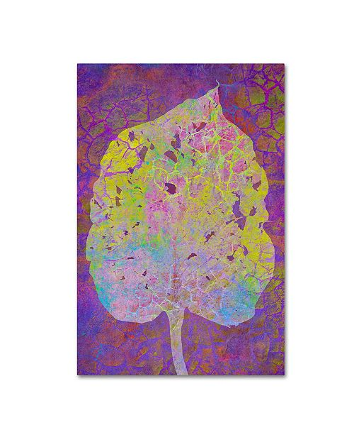 "Trademark Global Cora Niele 'Leaf Lemon On Violet' Canvas Art - 19"" x 12"" x 2"""