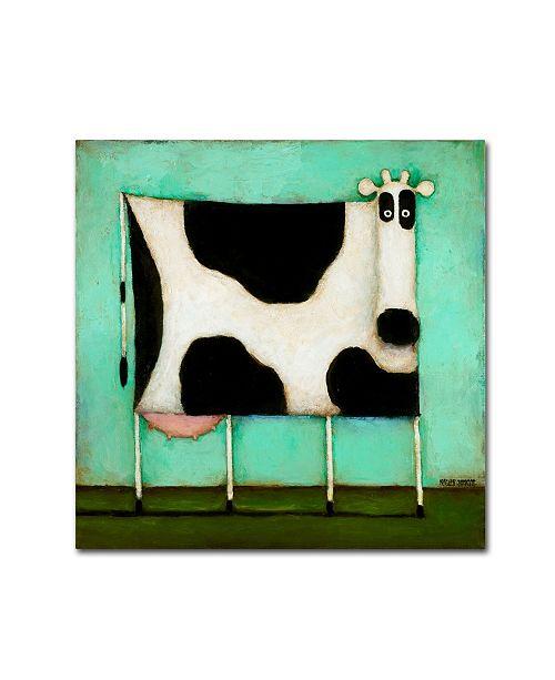 "Trademark Global Daniel Patrick Kessler 'Turquoise Cow' Canvas Art - 35"" x 35"" x 2"""
