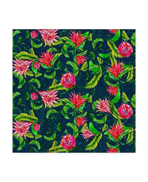 "Trademark Global Irina Trzaskos Studio 'TROPICAL FLOWERS PATTERN' Canvas Art - 14"" x 14"" x 2"""