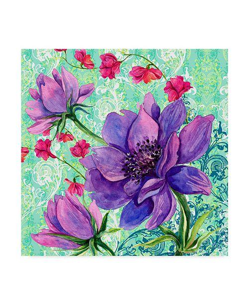 "Trademark Global Irina Trzaskos Studio 'Bright Florals II' Canvas Art - 35"" x 35"" x 2"""
