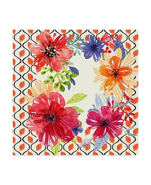 "Trademark Global Irina Trzaskos Studio 'Blooming Garden III' Canvas Art - 18"" x 18"" x 2"""