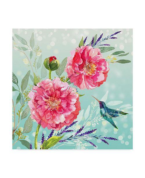 "Trademark Global Irina Trzaskos Studio 'Evening Garden I' Canvas Art - 18"" x 18"" x 2"""