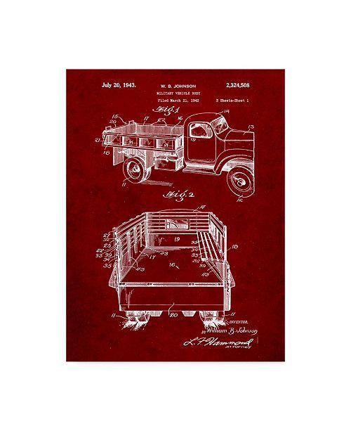 "Trademark Global Cole Borders 'Truck' Canvas Art - 47"" x 35"" x 2"""