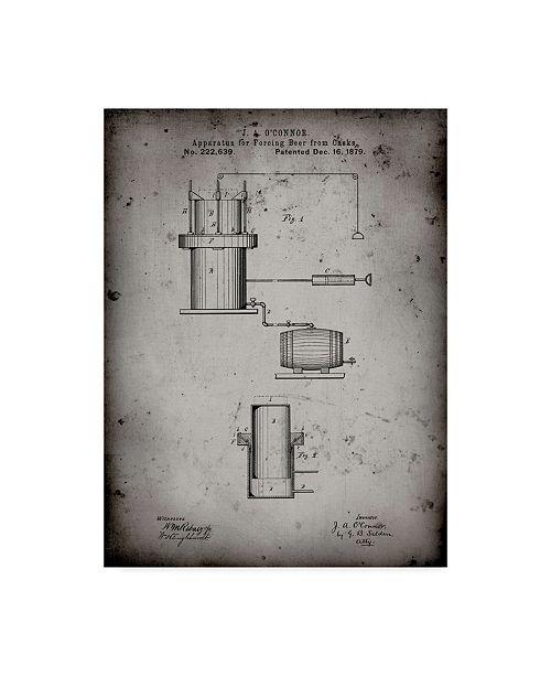 "Trademark Global Cole Borders 'Mechanics 11' Canvas Art - 19"" x 14"" x 2"""