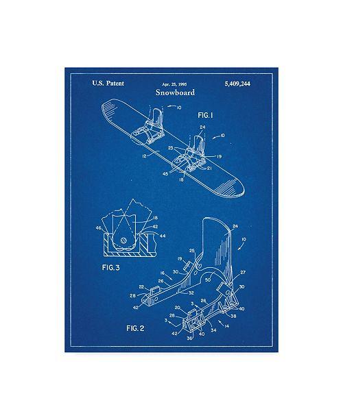 "Trademark Global Cole Borders 'Snowboard' Canvas Art - 19"" x 14"" x 2"""