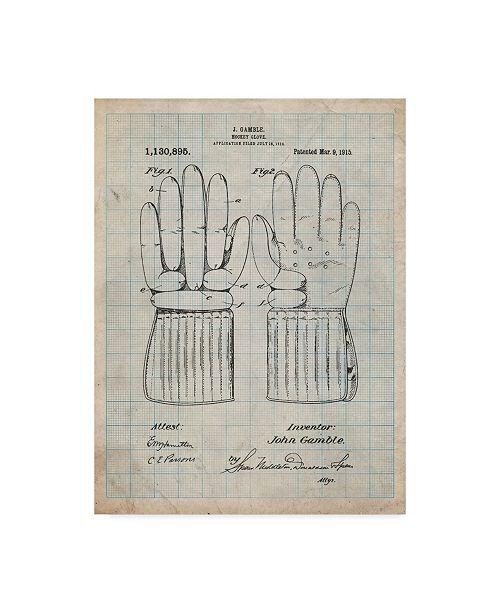 "Trademark Innovations Cole Borders 'Glove' Canvas Art - 47"" x 35"" x 2"""