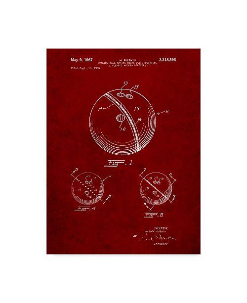 "Trademark Innovations Cole Borders 'Bowling Ball' Canvas Art - 24"" x 18"" x 2"""