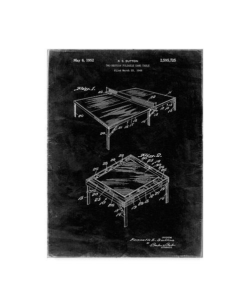 """Trademark Global Cole Borders 'Ping Pong Table' Canvas Art - 32"""" x 24"""" x 2"""""""