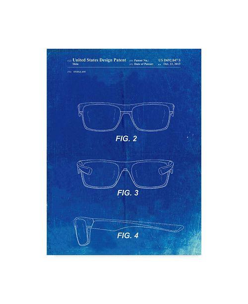 "Trademark Global Cole Borders 'Two Face Prizm Oakley Sunglasses' Canvas Art - 19"" x 14"" x 2"""