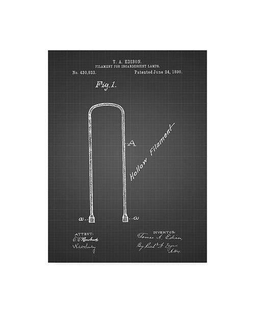 "Trademark Innovations Cole Borders 'Edison Filament Art' Canvas Art - 19"" x 14"" x 2"""