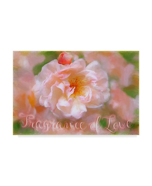 "Trademark Global Cora Niele 'Fragrance Of Love' Canvas Art - 19"" x 12"" x 2"""