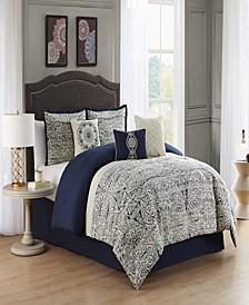 Marian 7 Piece Queen Jacquard Comforter Set