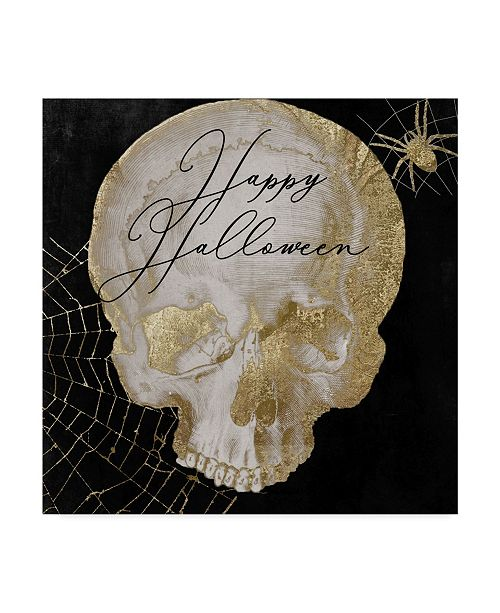 "Trademark Global Color Bakery 'Happy Halloween Skull' Canvas Art - 14"" x 14"" x 2"""