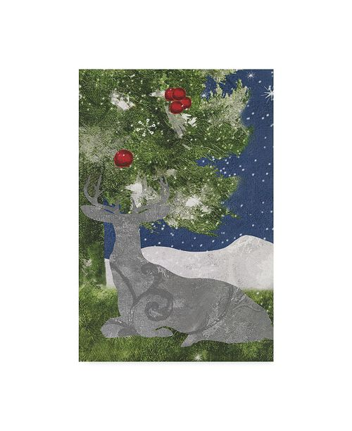 """Trademark Global Color Bakery 'Under The Pine Trees' Canvas Art - 19"""" x 12"""" x 2"""""""