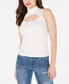 GUESS Zeena Cutout Mock-Neck Top