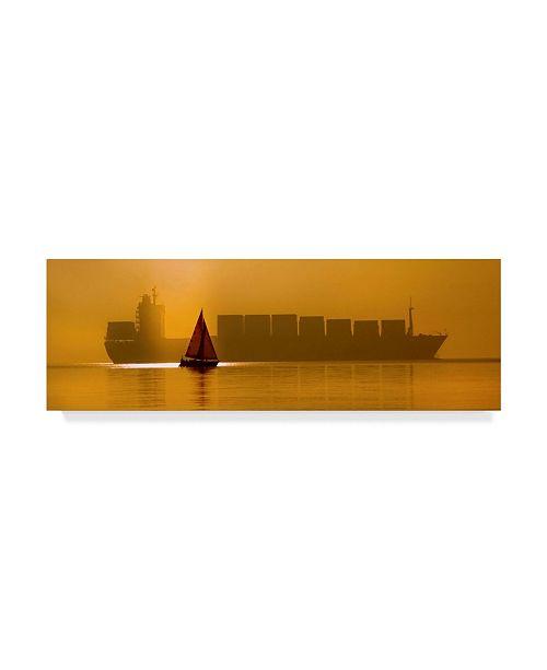 "Trademark Global Dartef Pristov 'David And Golijat' Canvas Art - 47"" x 2"" x 16"""