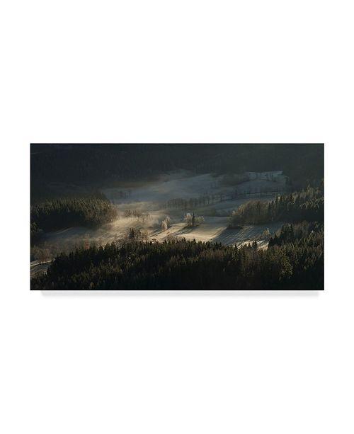 """Trademark Global Izabela Laszewska 'Fire And Ice Fog' Canvas Art - 47"""" x 2"""" x 24"""""""